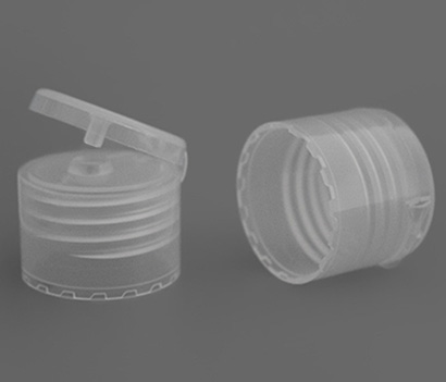 24-410 Round Plastic Flip Top Cap Non Spill For 24mm Neck Size Bottles