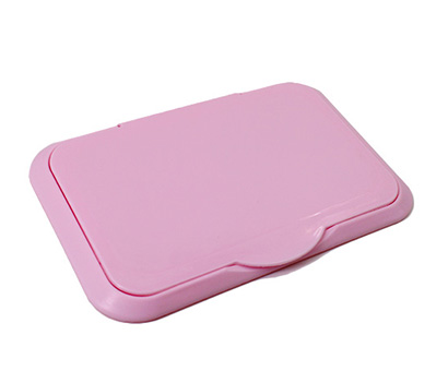 Pink wet wipe lids cover adhere for baby tissue pouch